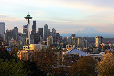 Seattle Sunrise from Kerry Park on Queen Anne Hill