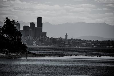 Seattle Skyline from Bainbridge Island, WA 06-14-2015