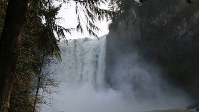 Snoqualmie Falls after 37 hours of rainfall. Snoqualmie, WA 11/15/2015