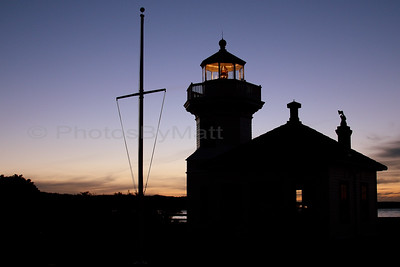 Mukilteo Light house at sunset. Mukilteo,  WA