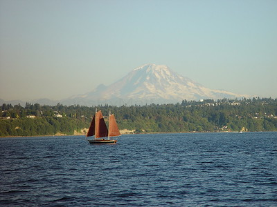 Mt. Rainier from the water