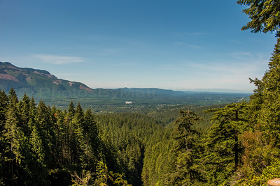 The Skykomish Valley with the Olympics Mtn. Range 65-(air)miles in the distance.