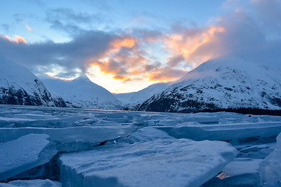 Ice Flows of Portage Lake