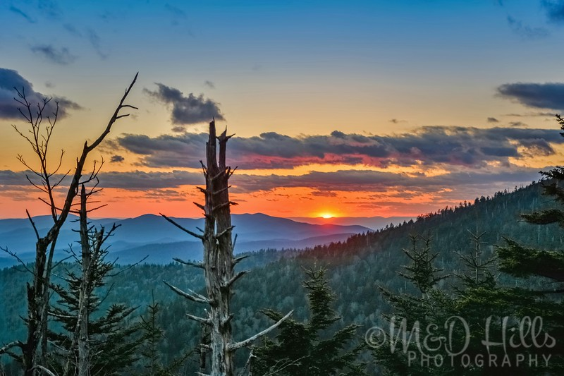 Clingmans Dome Spring Sunset