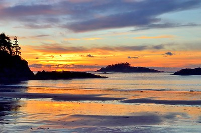 New Years sunset, MacKenzie Beach Vancouver Island