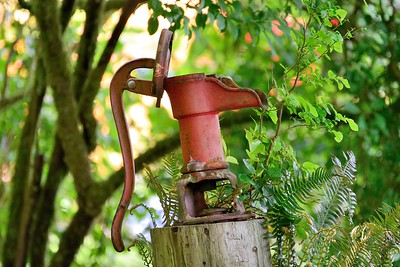 Manual water pump, Stubbs Island