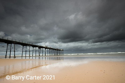 Saltburn Pier Before Storm