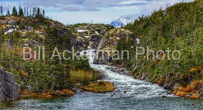 Whitewater Rapids Near White Pass Summit, Alaska