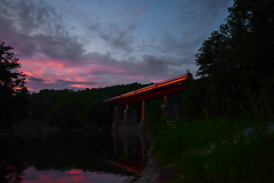 Amtrak at Sunset
