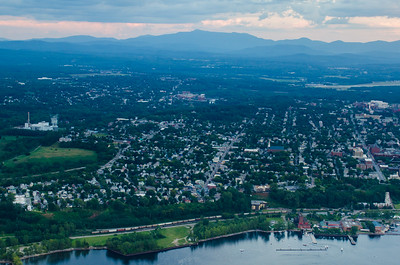 Burlington Waterfront and Mount Mansfield