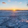 Icy Sunset at the Sandbar