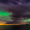 Panorama of Aurora Over Lake Champlain