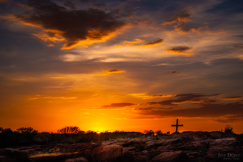 Old Rugged Cross in Granite Sunset 2018-1