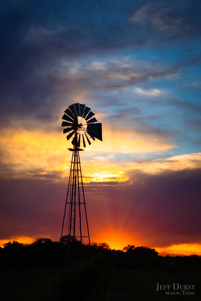 Windmill Sunset Portrait