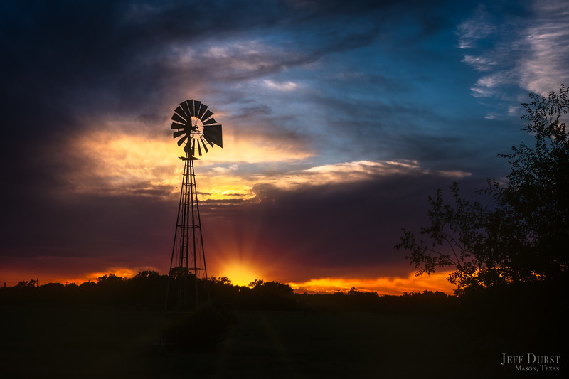 Windmill Sunset May 2018