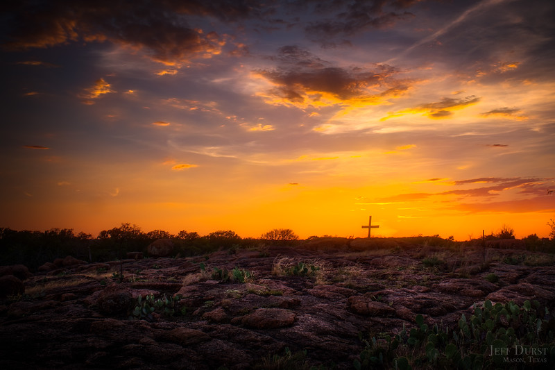 August Orange Sunset Cross 2018-1