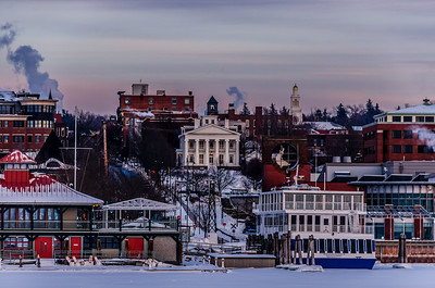 Burlington Waterfront In Winter