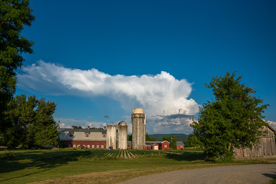 Billowing Cloud Over Farm