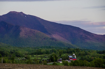 Mount Mansfield And Farm