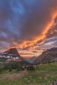 Hidden Lake, Vibrant Sunset
