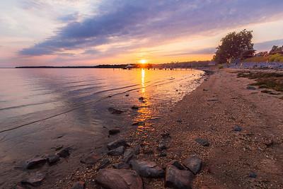 Sunset in Charlestown