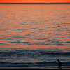 """Dophin and Runner"".  Sunset during Malibu fires Jan. 8th, 2007.  View from  Manhattan Beach, CA"