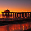 """November Glow"". Manhattan Beach Pier, Manhattan Beach, CA.<br /> Image published on the front cover of the ""South Bay Monthly"" Magazine, August 2010 (Manhattan Beach, Hermosa, Beach, Redondo Beach & El Segundo issue)."