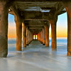 """Sunrise Sweep"".  Long exposure at sunrise, under the pier."