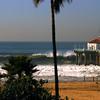 """Big Wednesday Perspective"". Large swells off the Manhattan Beach Pier 12/5/07. Manhattan Beach, CA"