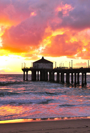"""""""Creative Light"""". Manhattan Beach, CA.<br /> Image published on the front cover of the """"South Bay Monthly"""" Magazine, July 2010 (Manhattan Beach, Hermosa, Beach, Redondo Beach & El Segundo issue)."""