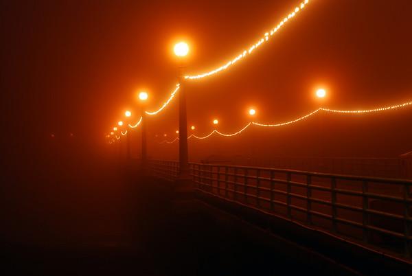 """Winter Fog"". Manhattan Beach Pier, Manhattan Beach, CA"