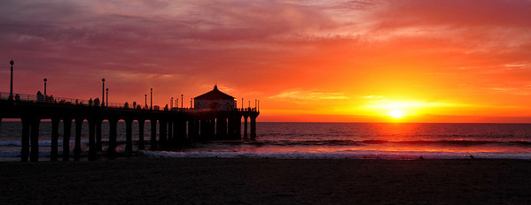 """Winter Tones"".  Manhattan Beach Pier, Manhattan Beach, CA"