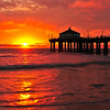 """February Fire"". Manhattan Beach Pier."