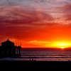 """Winter Warm Sunset"". Manhattan Beach Pier, Manhattan Beach, CA"