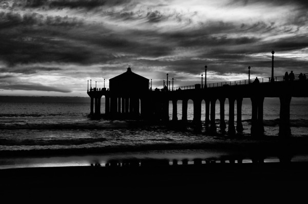 """""""Winter Light Reflections"""" (black & white high structure filter version)."""