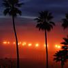 """""""Mystery February Fog"""". Manhattan Beach Pier at suset, Manhattan Beach, CA."""