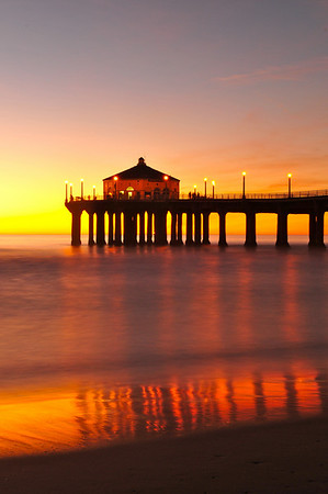 """Golden Glow"". Manhattan Beach Pier."