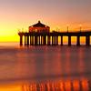 """Golden Glow"". Manhattan Beach Pier."