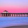 """Cotton Candy"".  Pink sunrise in Manhattan Beach."