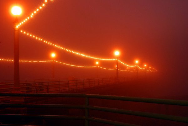 """Holiday Fog"". Manhattan Beach Pier, Manhattan Beach, CA"