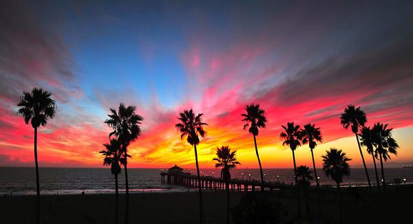 """""""Welcoming Fall"""".  Manhattan Beach Pier."""