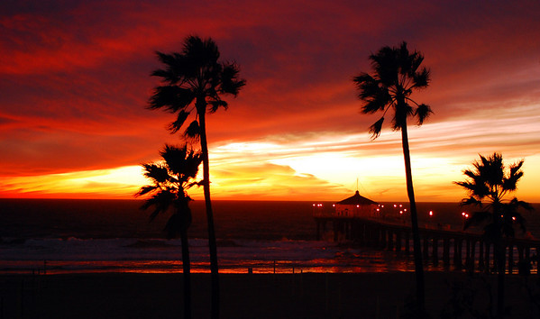 """Fire Sky"".  Manhattan Beach Pier, Manhattan Beach, CA"