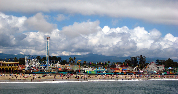 The Santa Cruz Boardwalk. Santa Cruz, CA.