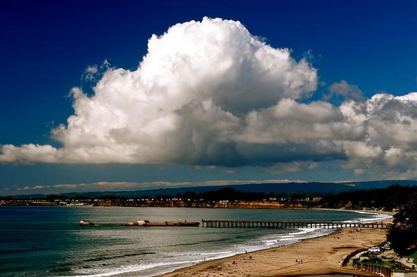 "Deep Blue. Thunderhead cloud over Rio Del Mar Beach, Aptos, CA. (Image awarded ""Approver's Choice"" on  <a href=""http://www.WeatherUnderground.com"">http://www.WeatherUnderground.com</a>) Feb 2011"