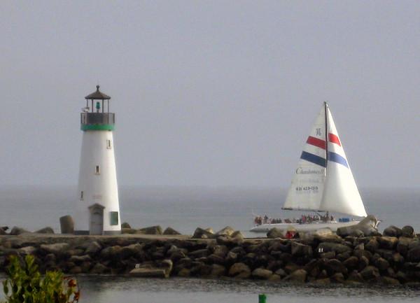 The Walton Lighthouse. Santa Cruz Harbor, Santa Cruz, CA.