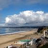 Storm clouds approach Seacliff State Beach. Aptos, CA.