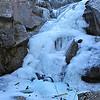 Dinkey Creek Frozen Falls. Dinky Creek, CA.