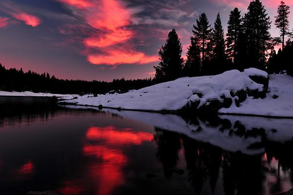 Twilight Sunset. Dorabella Cove, Shaver Lake, CA
