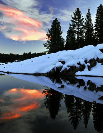 Red Cloud Reflections. Dorabella Cove, Shaver Lake, CA