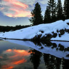 Red Cloud Reflections. Dorabella Cove, Shaver Lake, CA